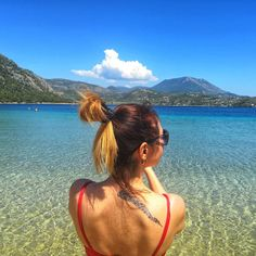 Today was a little bit windy in Loutraki, so Dimitris and I decided to go sunbathing at lake Vouliagmeni. Greece Resorts, I Decided, Resort Spa, To Go, Bikinis, Hotels In Greece, Bikini, Bikini Tops, Bikini Set