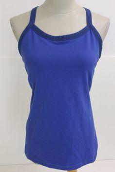 Lululemon Womens Blue Workout Tank Size 12 | eBay Loving this cobalt blue vintage Lulu piece.