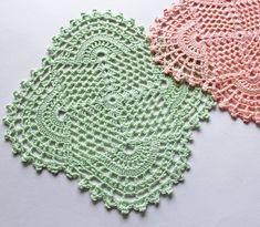 Crochet Mandala Pattern, Crochet Lace Edging, Granny Square Crochet Pattern, Doily Patterns, Crochet Squares, Thread Crochet, Filet Crochet, Crochet Patterns, Crochet Dollies