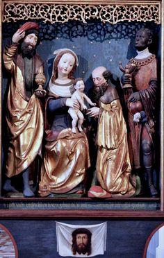 X Bavière.  1530. Retable de l'Adoration des Mages.   Berlin Bode Museum   X Bavaria. 1530 altarpiece of the Adoration of the Magi. Bode Museum Berlin