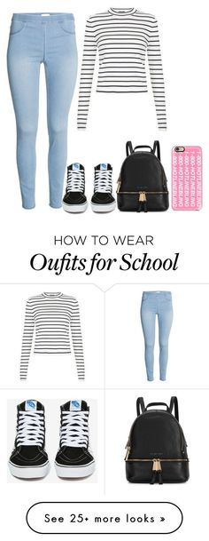 School outfit by melissa013 on Polyvore featuring Vans, Michael Kors, Casetify, womens clothing, women, female, woman, misses and juniors