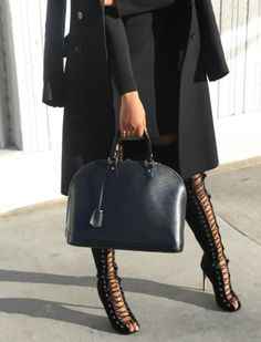 Louis Vuitton bag and Alex Perry boots // HAATI CHAI