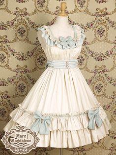 Beautiful dress! Love the ruffles. Mary Magdalene | Meria Rose JSK in Ivory