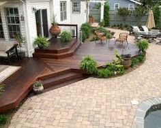 Image result for high deck to patio transition ideas