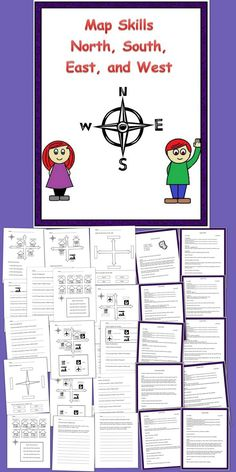 Punctuation Worksheets Grade 1 Word Reading A Map  Geography Worksheets And Social Studies Translations Worksheets Excel with Naming Polyatomic Ions Worksheet Word A Second Grade Introduction Lesson Plan For Map Skills Using North East  South The Digestive System Worksheet