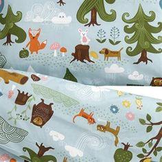 Little bear childrens bed set - blue 100x130 cm - Klippan Yllefabrik