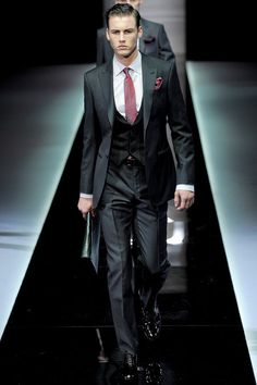 Giorgio Armani Fall 2013 Menswear Collection Slideshow on Style.com  wedding suit for groom