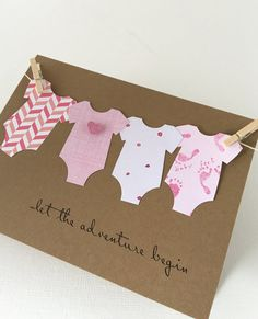 Baby Adventure Card Congratulations Its a Girl Baby Body