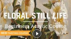 Acrylic Floral Painting Co urse