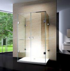 Duschkabine U-Form 8 mm Nano Echtglas - 120 x 90 x 195 cm - inkl. Glas Art, Corner Shower Enclosures, Tall Cabinet Storage, Locker Storage, How To Clean Chrome, Shower Cabin, Bathroom Shop, Shower Cubicles, Cabins