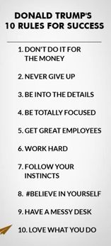 Rules for success: Donald Trump