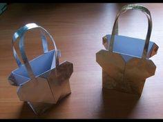 Как Сделать Бумажный Пакет Оригами с Сердечком. Упаковка для Подарка - YouTube