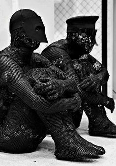 tumblr. Misanthropicmessiah | Auto-da-fé Dark Fashion, Mens Fashion, Dark Costumes, Conceptual Fashion, Tumblr, Post Apocalyptic, Back To Black, Designer Wear, Costume Design