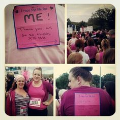 Done the Race for Life this year for the second time. It's a thing in the UK for women who run/walk/jog 5 or 10km to raise money for cancer research. It's so inspirational and because it's not actually a race it's so great because anybody can do it. People where signs on their back for who or what they're racing for. I did it in memory of a family friend, some people do it without knowing anyone affected by cancer and most amazingly, as pictured, alot of people do it for themselves as…