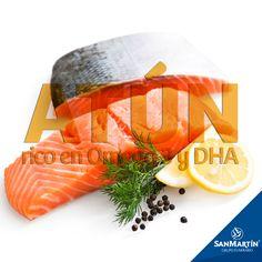#SabíasQué El atún es rico en omega 3  y DHA, nutrientes que previenen enfermedades cardiovasculares. Integra en tu dieta este alimento.  #CuidaTuSalud