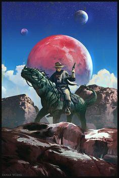 Space Cowboy by DanarArt