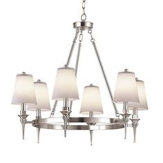 PURCHASED FOR DINING ROOM (This was already in a box in our garage) Portfolio 6-light Brushed Nickel Chandelier 0220211 2324-ch-6