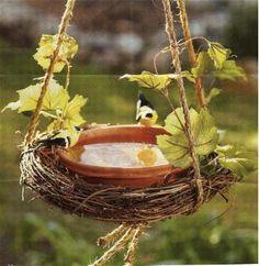 hanging birdbath | hanging bird bath