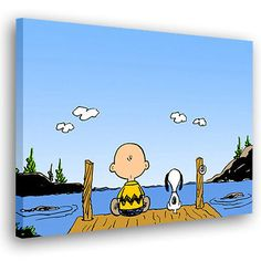 Snoopy Charlie Brown Peanuts Canvas Art Print