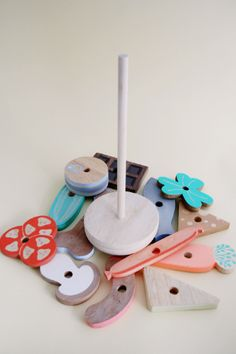 Slow Wood - Studio Fludd - 'unconventional sandwich' stacking toy