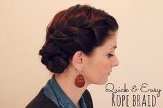 DIY Wedding Hair : DIY The Rope Braid