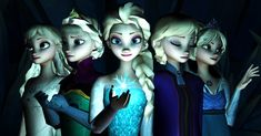 Elsa - who is this person with the CG Elsas??? They're always doing things with her!!!