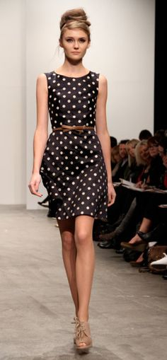 because everybody needs a black and white polka dot dress!