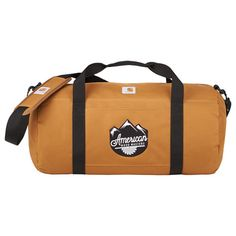 Rugged poly with Rain Defender® durable water repellent. Large duffel packs inside x pouch. Removable adjustable shoulder strap with pad. Duffel Bag, Carhartt, Brand Names, Shoulder Strap, Pouch, Marketing, Leather, Bags, Handbags