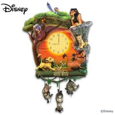 As the iconic song from Disney's 'The Lion King' explains, the term 'Hakuna Matata' means 'no worries!' Now, celebrate that carefree spirit of the Pride Lands every minute with the Disney The Lion King Hakuna Matata Wall Clock, officially licensed by Disn Lion King Room, Lion King Nursery, Lion King Baby, Bradford Exchange Disney, Lion King Hakuna Matata, Kings Home, Disney Rooms, Disney Home Decor, King Bedroom