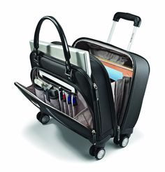Computer Roller Bag Laptop With Wheels TLS Mobile Office Trolley Luggage Tote