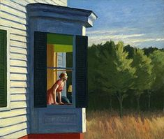 """In Edward Hopper's painting """"Cape Cod Morning,"""" what is the woman looking at? An @americanartpin curator helps answer the mystery."""