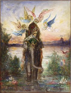 File:Gustave Moreau - The Sacred Elephant (Péri) - Google Art Project ...
