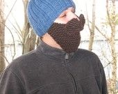 3 in 1: Knitting Pattern ONLY- Hat with beard and mustache pdf. $9.00, via Etsy.