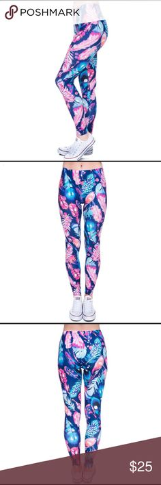 COMING SOON Feather Leggings ✔️Brand New ✔️Spandex, Polyester ✔️Leave a comment to be notified when available 🌷Happy Poshing! Pants Leggings