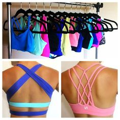 Cute and strappy sports bras for your #BunnyBootcamp class! #workout #style