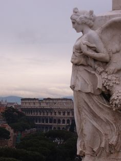 Rome <3, province of Rome, Lazio region Italy - Even statues have to hoist their frocks up from time to time.
