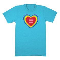 HRC human rights campaign gay lgbt rights Rainbow Heart T-Shirt