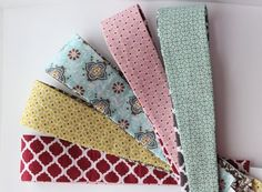 Headbands made with Stampin' Up! Fabric!