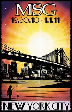 Original concert lot poster for PHISH at Madison Square Garden in NYC on New Years Eve 2010. 11x17 card stock. Limited edition of only 100!! Signed and numbered by artist Maria DiChiappari. Made with love!!