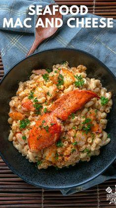 Lobster Recipes, Seafood Recipes, Pasta Recipes, Dinner Recipes, Rigatoni Recipes, Dinner Ideas, Seafood Mac And Cheese, Seafood Dishes, Pasta Dishes