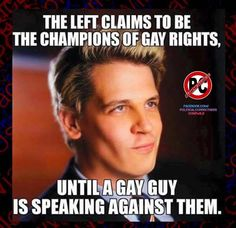 """Perhaps it's not about """"Rights"""", maybe it's about the Liberal-Left Agenda...and not about a Gay Person's Right to disagree with a narrative that does not represent free speech, Right #1 on the Bill of Rights ... ?!? ... just sayin'."""
