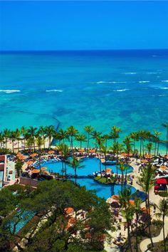 one of the most beautiful hotels, the Sheraton Waikiki on Oahu.