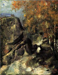 Rock in the Forest of Fontainbleau - Paul Cezanne