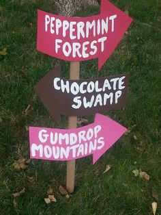 Some of the Candyland signs that were outside