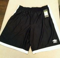 Umbro Mens Size X-Large Comfort Control Shorts, Black and White New | Clothing, Shoes & Accessories, Men's Clothing, Shorts | eBay!