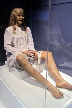 The Regan MacNeil Mechanical Puppet from the 1973 film, The Exorcist, was created by prosthetic makeup designer Dick Smith and mechanical effects designer Marcel Vercoutere. The single most shocking image in the film occurs when Regan's head spins entirely around, causing much controversy.