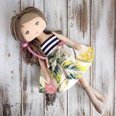 Newly added to the SpunCandy Shop today! #spuncandydolls #handmade #handmadedoll #clothdoll