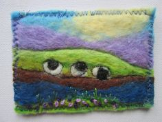 felted picture collectors aceo sheep picture by SueForeyfibreart Wet Felting, Needle Felting, Felt Pictures, Felt Projects, The Collector, Sheep, Original Art, Miniatures, Stitch