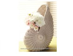"""Nautilus Shell"" Crochet Basket pattern by Julia SimpleCraftTutorials"