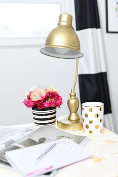 Would you believe this desk lamp is actually bronze? Live Better Network blogger @MonicaWantsIt used her DIY skills (and trusty gold spray paint) to add her personal touch before adding it to her brand new office. Traditional Desk Lamp sold online and in stores.